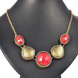 vintage pendant necklace.zinc alloy with antique brass color,resin stones,NL-1787