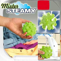 Wholesale nice Pack MISTER STEAMY Dryer Balls Reduce Wrinkles Steam