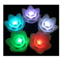 Wholesale Superb Colorful Wishing Lotus Lanterns Change Automatically WEIL