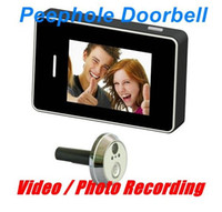 Wholesale Touch Screen Peephole Doorbell inch Digital Door Viewer Video Recorder Night Vision pc