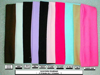 Wholesale Stretch sports Headband Lycra solid color Hair bands Unisex mix colors