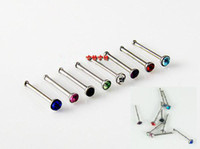Wholesale Wholsale Ladies Crystal Body Jewelry Eyebrow Ring Libret Nostril Spikes Earrings Piercing B5