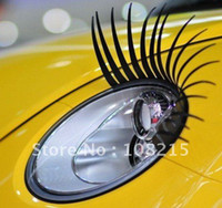 Wholesale 2pcs pair charming automotive cars sticker car eye lashes high quality promotion and det