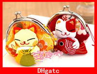 Wholesale Lovely Japanese Lucky Cat Coin Purse Cute Purse Wallet Coin Bag Key Bag Exquisite Gift