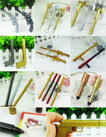 Wholesale New Creative Colorful Gun Grenade Spontoon Axe Toys Rollerball Gel Pen MM Best Gifts For Kids
