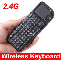 Wholesale 2 GHz Rii Mini Wireless Keyboard with Touchpad Laser pointer for PC