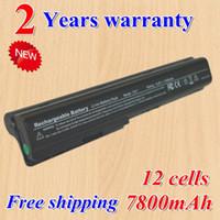 Wholesale Hot new Cell Laptop battery for HP Pavilion DV7 DV7Z DV7T HSTNN C50C HSTNN DB75 HDX18 black