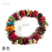 beaded hair strands - Conch shell color shells bracelet hand ring tire hair circle accessories