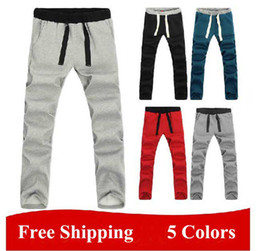 Wholesale New Winter Men s Thick Warm Pants Men Casual Sports Pants Clothes Black Blue Red Grey