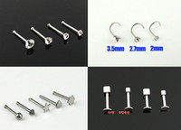 Wholesale 100pcs Nose Ring Eyebrow Stick Pins Libret Spike Tongue Piercing Body Jewelry Fashion Body Piercing