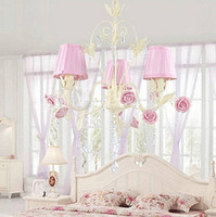 Wholesale Crystal Chandelier with Lights in Pink Shade