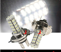 Wholesale Car H4 SMD LED K Xenon White Fog Headlight Light Lamp Bulb DC V