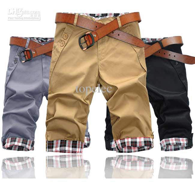 2017 New Men's Short Pants Trousers Men Slim Fit Casual Sports ...
