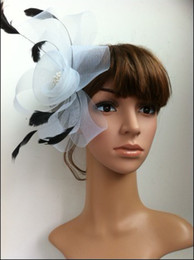 Wholesale 10color Fashion feather fascinator party mini top hat