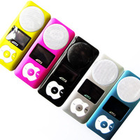 Wholesale New Design Portable MP3 Player big loud speaker GB built in Memory Micro SD Card Slot