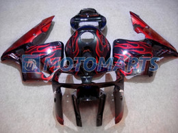 Red flame in black fairings kit FOR CBR600RR F5 2005 2006 CBR 600 RR 05 06 CBR600 600RR