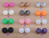 Wholesale 200pcs European Rhinestone Bulk Acrylic Resin Basketball Wives Earrings mm Poparazzi Charms Beads