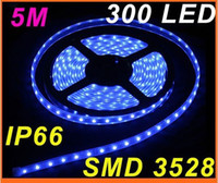 Wholesale 5M Blue flexible led strip IP66 Waterproof led strip with SMD LED lighting