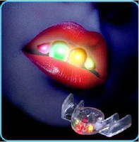 Wholesale New Fashion Novelty LED Lights for Your Teeth LED Flashing Mouth Best Props For Halloween amp Party