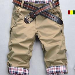 Wholesale new arrival Men s summer Pants slim colors casual pants five male Size M L XL XXL