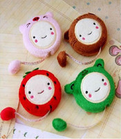 Wholesale Hot Selling Lovely Cartoon Plush Retractable Tape Measure Ruler
