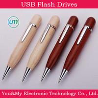 Wholesale Wood Pen USB Flash Drive wooden USB Flash Drive GB GB GB GB GB with Gift Box