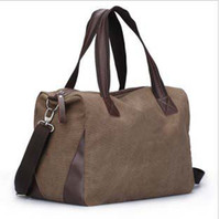 Wholesale 2012 new style Cotton canvas large bag Shoulder handbag Travel bag luggage bags drop ship mix order