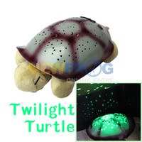 Wholesale Hot Selling Lovely Twilight Turtle Night Light Kids Sleep Lamp Stars Constellation Lamp Kids Toys