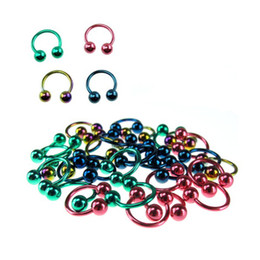 Wholesale G Horseshoes mixed Titanium Nose lip Eyebrow ring body piercing jewelry