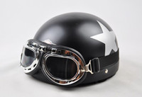 Wholesale Scooter Half Vespa Motorcycle Open Face Cycling quot design quot Helmet amp Goggles Free