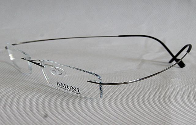 titanium eyewear  Titanium Eyeglass Frame Silver Rimless Advanced Eyewear Flexible ...