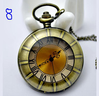 Casual mens pocket watches - 20 Unisex Quartz Pocket Watch Bronze Antique Mens Men s Ladies Women s Pendant Necklace Watches
