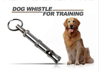 Wholesale Silver Metal Pet Dogs Training Adjustable Ultrasonic Dog Whistle Sonic Sound