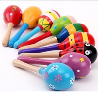 Hot Sale Baby Wooden Toy Rattle Baby cute Rattle toys Orff m...