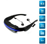 Wholesale Portable k Pixels quot MP4 Video Glasses Eyewear Mobile Theatre GB Movie Music EBook
