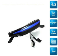Wholesale 2GB k Pixels mp4 Mobile Theatre video glasses Cinema Eyewear inch Virtual Screen Movie Music
