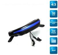 Wholesale 2GB k Pixels mp4 Mobile Theatre video glasses Cinema Eyewear inch Virtual Screen Movie Music