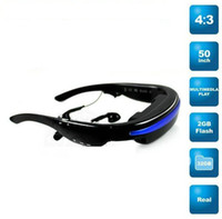 Wholesale 2GB inch wide screen virtual display Eyewear Cinema Mobile Theatre Portable Video Glasses