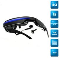 Wholesale 320k Pixels mp4 Mobile Theatre video glasses Cinema Eyewear inch Virtual Screen GB Portable Vide