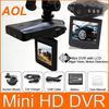 HD car DVR camera wide angle 270 degree rotation 2.5TFT LCD 6 IR LED night vision car black box