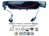 Wholesale portable quot virtual screen video glass mp4 Eyewear Mobile Theatre GB LCD display Music