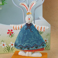 The cute little rabbit molding resin card holder notes folde...