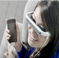 Wholesale MP4 quot Video glasses eyewear Mobile Theatre Virtual Screen MP4 Video Glasses for iPhone iPad ipod