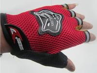Wholesale Cool Cycling Bike Bicycle Half Finger Gloves with red black blue
