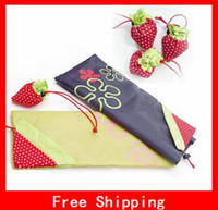 Wholesale Hot selling Strawberry Novelty Reusable Nice Shopping bag Environmental bags