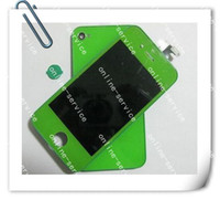 Wholesale 2012 NEW For iphone g LCD SCREEN Display Assembly Back Glass Cover Home Button color SCREEN
