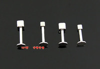 Wholesale 100pcs Cubic Square Stainless Steel Nose Spike Ear Studs Body Jewelry Nostril Pin Libret Piercing B7