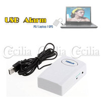 Wholesale new arriva White USB Powered Digital Security Alarm Anti theft for PC Laptop Computer GPS
