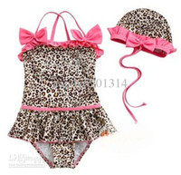 One-piece 3T-4T Children's Day 5pcs Baby girl 2-piece leopard Swimwe zebra print girls swimsuit swim pool itemsbath kids good--baby
