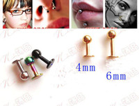 Wholesale 100pcs Mini Stick Body Jewelry Eyebrow Plugs Ear Nostril Studs Libret Spikes Pins Body Piercing B9